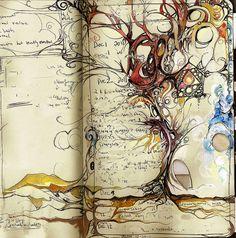 Fabulous Drawing On Creativity Ideas. Captivating Drawing On Creativity Ideas. Artist Journal, Art Journal Pages, Art Journals, Sketchbook Inspiration, Art Sketchbook, Art Doodle, Creative Journal, Handmade Books, Grafik Design