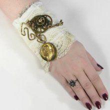lace wrist cuff, steampunk