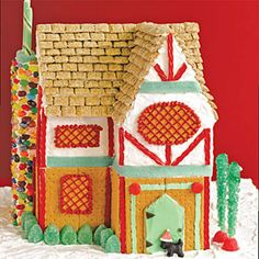 Graham Cracker Tudor house