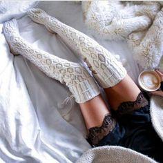 2016 Winter Women Socks Christmas Over Knee Knitted Hosiery Adult Knitted Socks Warm Woolen Hosiery Sock for Girls P20T