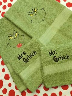 Hey, I found this really awesome Etsy listing at https://www.etsy.com/listing/484484151/grinch-bathroom-towels-hand-wash-cloth