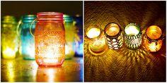 Artesanato Casa e Dicas: Aprenda a fazer lanternas marroquinas com frascos de vidro
