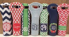 haymarket designs holiday wine totes - great gifts!