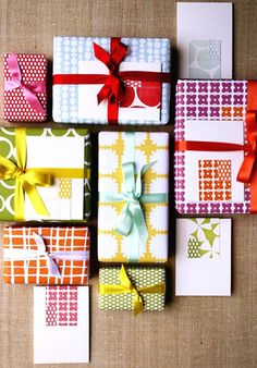fun color combinations ~ signed by tina: Gift Wrapping....