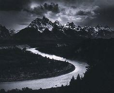 The Grand Tetons and the Snake River, Teton National Park, Wyoming  Ansel Easton Adams  (American, San Francisco, California 1902–1984 Carmel, California)  Date:    1942, printed 1974  Met