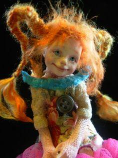 Pippi art doll by B.B. Flockling ~ I loved Pippi Longstocking as a child!