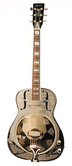 Image Detail for - Ozark 3515BE Resonator Guitar Engraved Body