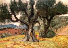 Olive Trees / Aristide Maillol - circa 1895