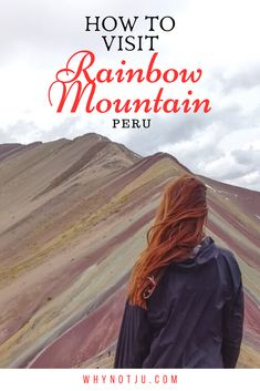 How to visit the Rainbow Mountain from Cusco Peru. An incredible site in Peru that is easier than you think to visit. All you need to know to get the best experience hiking the rainbow mountain! Travel Travel Travel Trip Travel T South America Destinations, South America Travel, Travel Destinations, Adventure Awaits, Adventure Travel, Rainbow Mountain Cusco, Travel Inspiration, Travel Ideas, Travel Tips