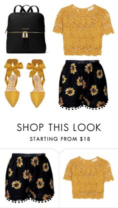 """""""s"""" by koorotneva-l ❤ liked on Polyvore featuring Miguelina and MICHAEL Michael Kors"""