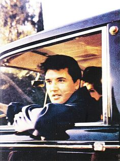 allaboutcilla:  Elvis and Priscilla Presley in the car, c. 1965