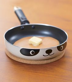 Panda Skillet OMG my sister should get me this along with all the other panda stuff she gets me that is breakable and pretty much unusable.