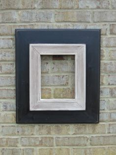 8x10 Handmade black and white wooden picture frame