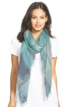 Eileen Fisher Stripe Organic Cotton Scarf available at #Nordstrom
