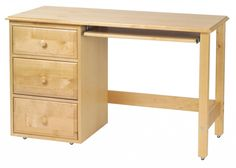 Small Wooden Desk with Drawers - Diy Corner Desk Ideas Woodworking Desk Plans, Woodworking Projects That Sell, Woodworking Supplies, Woodworking Furniture, Woodworking Videos, Router Woodworking, Woodworking Machinery, Woodworking Workshop, Woodworking Classes
