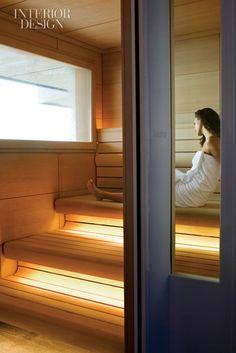 Spa in the Sky: Eric Parry Architects Overhauls London's Four Seasons Penthouse… Modern Saunas, Portable Sauna, Sauna Design, Steam Sauna, Spa Rooms, Sauna Room, Home Salon, Steam Room, Interior Design Magazine