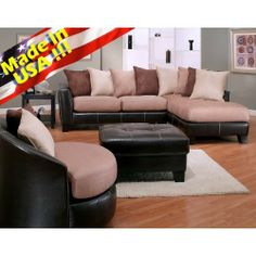 Furnituremaxx.com Oxford Mocha Sectional Sofa, Made In USA : Sectional  Sofas · Wohnzimmer SchnittsEcksofasCouchesKleine WohnzimmerZeitgenössische  ...