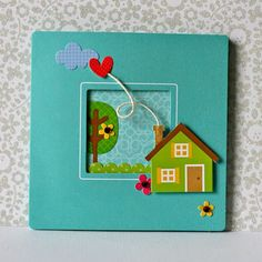 home sweet home : Sherry Cartwright Card Making Tutorials, Making Ideas, Scrapbook Paper Crafts, Scrapbook Cards, Pinterest Cards, Housewarming Card, House Cards, New Home Cards, Beautiful Handmade Cards