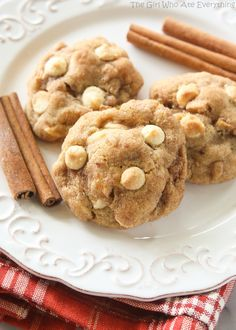 Appledoodles - An apple version of a snickerdoodle with small pieces of apple and a soft and chewy inside. - The Girl Who Ate Everything