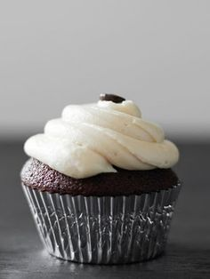 Coffee Chocolate Cupcakes with Baileys Frosting.