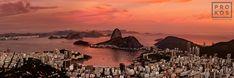 Panoramic View of Botafogo at Dusk, Rio de Janeiro