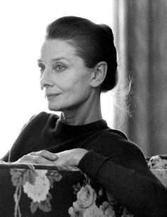 Audrey Hepburn photographed by Martyn Goddard, 1989.