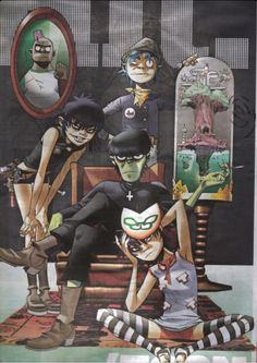 Gorillaz family picture