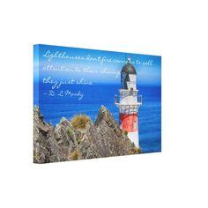 Cape Palliser Lighthouse Canvas Wrap