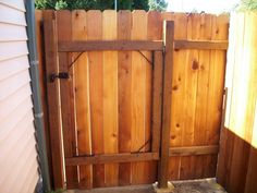 dog ear fence gate - Google Search