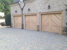 Pergola Over Garage Door Garage Door Sizes, Garage Door Windows, Wooden Garage Doors, Wood Doors, Cedar Garage Door, Custom Garage Doors, Carriage Garage Doors, Diy Garage Door, Steel Garage