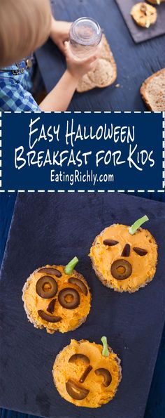 These jack o'lantern toasts make an easy Halloween breakfast for kids, and…
