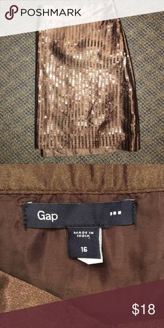 Holiday Skirt ❤️ With sequins Brown sequined skirt 👀 Gap 💓 GAP Skirts Mini