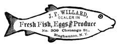 free printable~The Graphics Fairy - DIY: Image Transfer Printable - Fish Sign