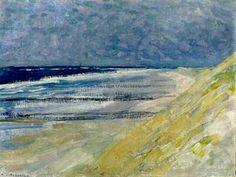 Piet Mondrian - Beach with Three or Four Piers at Domburg Piet Mondrian, Abstract Landscape, Landscape Paintings, Beach Paintings, Principles Of Art, Dutch Painters, Dutch Artists, Renaissance Art, Beach Art