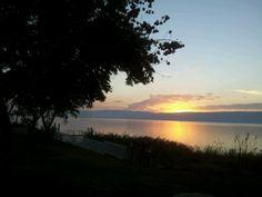 Sunset in the winter, Sea of Galilea, Israel