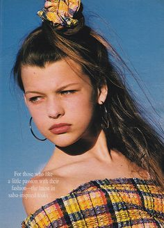 'Let is simmer with warm glimmers of color…' (1988) #Seventeen #MillaJovovich