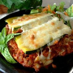Zucchini Lasagna - #lowcarb !! INGREDIENTS:… 2 ½ cups zucchini, sliced lengthwise ¼ inch thick (about 2 medium) ½ lb lean ground beef (I use 1 lb.) ¼ cup onion, chopped 2 small tomatoes, cut up 1 (6 ounce) can tomato paste 1 garlic clove, minced ½ teaspoon dried oregano ½ teaspoon dried basil ¼ teaspoon dried thyme ¼ cup water 1/8 teaspoon pepper 1 egg ¾ cup low fat cottage cheese (or low fat or fat free ricotta) ½ cup mozzarella cheese, shredded (I use 8 oz. divided) 1 teaspoon flour…