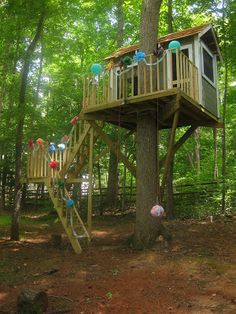easy stairs to treehouse - Google Search