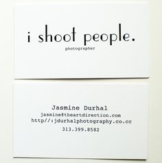 photography profile card business cards and business