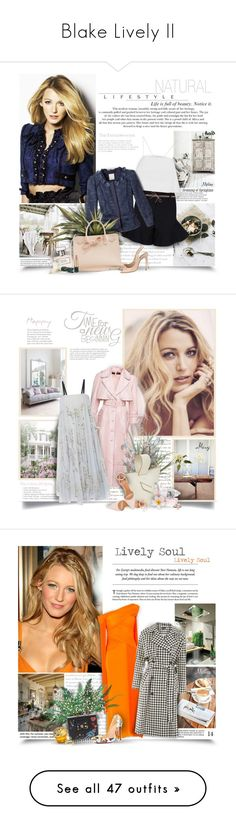 """Blake Lively II"" by thewondersoffashion ❤ liked on Polyvore featuring A.L.C., Dorothee Schumacher, ALMAROSAFUR, Rebecca Taylor, Ralph Lauren, Mansur Gavriel, Casadei, Oribe, Ulyana Sergeenko and Progetti"