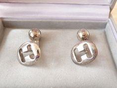 Hermes-Silver-Cufflinks