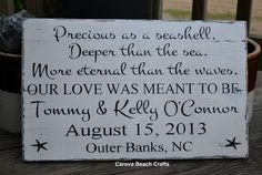 Wedding Sign - Beach Wedding - Personalized - 18x12 - Decor - Nautical Wedding - Coastal Wedding - Anniversary - Hand Painted - Rustic