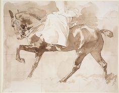 John Singer Sargent   Sketch of a Lady on Horseback, Sidesaddle |