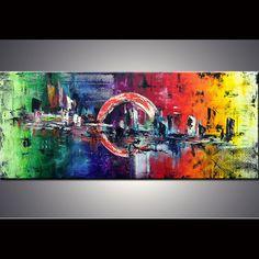72 XXL  ORIGINAL Large abstract art  Modern by ModernArtbyAda, $329.00