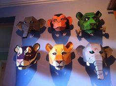 cardboard monkey mask - Google Search