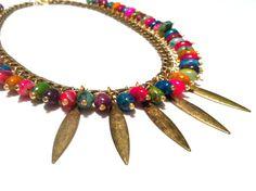 Summer Cluster NecklaceFringe Necklace by SweetCarolineCreatio, $61.50