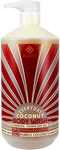 Alaffia - EveryDay Coconut - Hydrating Body Wash, Purely Coconut, 32 Ounces (FFP)