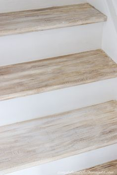 Best Faux Wood Makeover On Basement Stairs Particle Board 400 x 300