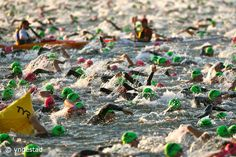 Ironman Wisconsin Swim...I'll be the slow one in the back, minimizing kicks to the head!