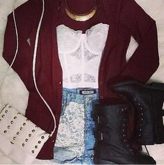 Cute fall outfit comfy-edgy-rocker
